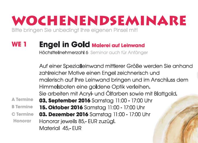 Wochenendseminar-Malen mit Gold